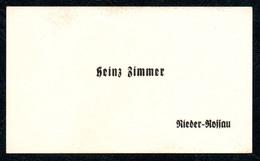 B7249 - Rieder Rossau - Heinz Zimmer - Visitenkarte - Visitenkarten