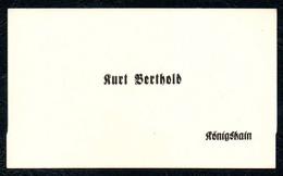 B7247 - Königshain - Kurt Berthold - Visitenkarte - Visitenkarten