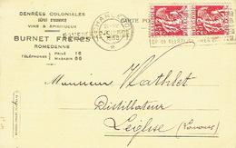 CP Publicitaire ROMEDENNE 1939 - BURNET FRERES - Denrées Coloniales, Vins Et Spiritueux - Philippeville