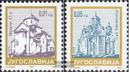 Jugoslawien 2670I C,2671I C MNH 1994 Francobolli: Monastero - 1992-2003 Sozialistische Republik Jugoslawien