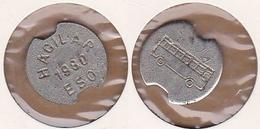 AC - TRANSPORT TOKEN JETON MUNICIPALITY BUS MANAGEMENT OF DISTRICS OF KAYSERI ( CIRCA 1980 )  HACILAR 1980 ESO - Professionals / Firms