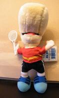 MONDOSORPRESA, PELUCHE BILL BODY SPORTIVI - NUOVI - TENNIS- 8962-10 - Cuddly Toys