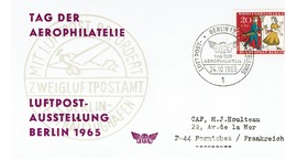 TAG DER AEROPHILATELIE - LUFPOST-AUSSTELLUNG BERLIN 1965 - BRD