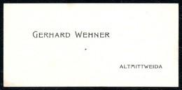 B7273 - Altmittweida Mittweida - Gerhard Wehner - Visitenkarte - Visitenkarten