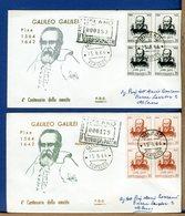 ITALIA - FDC 1964 - RACCOMANDATA CON TIMBRO DI ARRIVO - GALILEO GALILEI - 1946-.. République