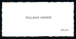 B7277 - Erlau - Roland Weber - Visitenkarte - Visitenkarten
