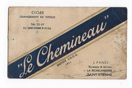 """42 - SAINT ETIENNE  - CYCLES -  """" Le CHEMINEAU """" -  J. PLANEL - La Richelandière à Saint Etienne - Transports"""
