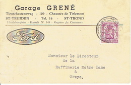 PK Publicitaire SINT-TRUIDEN 1940 -  Garage GRENE - Concessionnaire FORD - Sint-Truiden