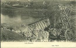08 Ardennes CHARLEVILLE Pont Du Chemin De Fer Sur La Meuse Coté MONTCY Détruit - Charleville
