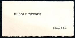 B7278 - Erlau - Rudolf Werner - Visitenkarte - Visitenkarten