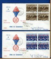 ITALIA - FDC 1964 - RACCOMANDATA CON TIMBRO DI ARRIVO - ARMA CARABINIERI - 1946-.. République