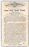 Dp.  Oorlog. Surinx Romain. Echtg. Lefrère Clemence. ° St. Truiden 1900 † Torhout 1940 - Religion & Esotericism