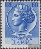 Italy 890 Watermark Flügelrad Unmounted Mint / Never Hinged 1953 ITALIA - 6. 1946-.. Republic