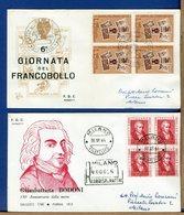 ITALIA - FDC 1964 - RACCOMANDATA - BODONI - 1946-.. République