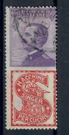 REGNO D'ITALIA - 1924/25 - FRANCOBOLLI PUBBLICITARI - SINGER - USATO - USED - Publicidad