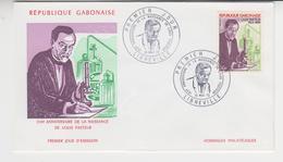 LOUIS PASTEUR / FDC  GABON , LIBREVILLE / 1972 ,150 Ième Anniversaire De Sa Naissance , - Malattie