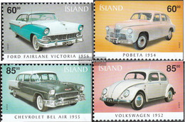 Iceland 1062Eu-1065Eo (complete Issue) Unmounted Mint / Never Hinged 2004 Old Automobile - Ungebraucht