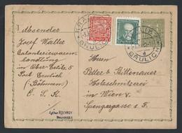 3ch.Postcard. The Mail Passed In 1931 Králíky (Czech Republic) Vienna (Austria) Bilingual Stamp - Czechoslovakia