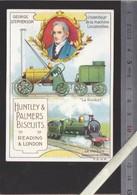 Chromo - Biscuits Huntley & Palmers - George Stephenson - Inventeur Machine Locomotive Rocket - Confiserie & Biscuits