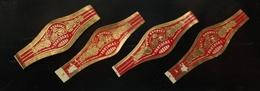 Bague Cigare - PARTAGAS Petit Bouquet - 3 Variantes - Lot N°15 De 4 Bagues - Cigar Band - Bagues De Cigares