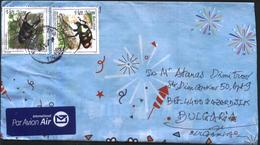 Mailed Cover (letter) With Stamps Fauna Insects Beetles 2015 Ftom Vietnam - Insekten