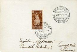 38208 Italia,special Postmark Bologna 1937 Bicentenary Birth Luigi Galvani,physician, Physicist,biologist,philosopher - Beroemde Personen