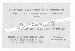 75 - PARIS  - Articles Pour FORAINS Et Soldeurs -  R. VERNIER - Rue RAMBUTEAU à Paris 3ème - Petits Métiers