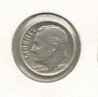 Monnaie, Etats Unis , United States Of America , One ,1 Dime ,1952, LIBERTY ,2 Scans - 1946-...: Roosevelt