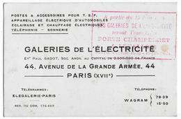 75 - PARIS  - Galeries De L'électricité -  P. GADOT - Avenue De La Grande Armée à Paris 17ème - Electricité & Gaz