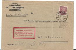 Republik XX034 / Dienstsache  Amtsgericht Eckernförde, Frankiert Mit Einzelmarke H.v.Stephan 1927 - Briefe U. Dokumente