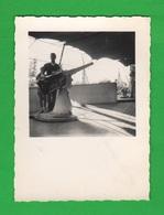Vittoriale  Garda Salò  Nave Puglia Cannone Di Poppa Foto Anni '60 - Barche