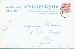 PK Publicitaire TIENEN 1953 - OVERSTEYNS - Boekhandel - Tienen