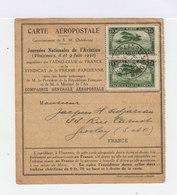 Carte Aéropostale Journées Nationales De L'aviation Vincennes Juin 1930. Timbres Poste Aérienne Du Maroc. (683) - Postmark Collection (Covers)