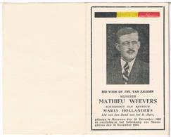 Dp. Oorlog. Weevers Mathieu. Echtg. Hollanders Maria. ° Meeuwen 1899 † Folterkamp Neuengamme 1944 - Religion & Esotericism