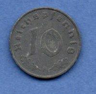 Allemagne - 10 Reichspfennig 1942 F  -  Km # 101 -  état TB+  - - [ 4] 1933-1945 : Third Reich