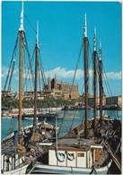 Spain, Mallorca, PALMA, La Catedral Desde El Muelle De Pescadores, Used Postcard [21875] - Palma De Mallorca