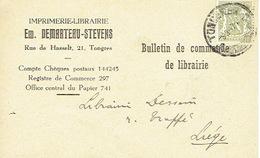 CP/PK Publicitaire TONGEREN 1947 - Em. DEMARTEAU-STEVENS - Drukkerij - Boekhandel - Tongeren