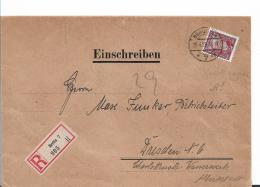 Republik XX036 / 1924-1932) Versiegeltes Bankeinschreiben Mit Mi.Nr.362y (Kreidepapier) EF 25.4.28 Aus Berlin N. Dresden - Briefe U. Dokumente