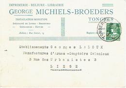 CP/PK Publicitaire TONGEREN 1935 - George MICHIELS-BROEDERS - Drukkerij - Boekhandel - Tongeren