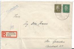 Republik XX038 / 1924-1932) , IPOSTA Ganzsache 30 + 8 Pfg. Für Ortseinschreiben Mit Sonder-R-Zettel Und  Stempel - Briefe U. Dokumente