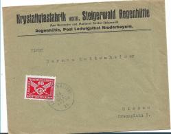 Republik XX004/ 1924-1932) , Firmenbrief  RegenHütte Post Ludwigsthal 1925 Nach Giesen Mit 10 Pfg. Verkehrsausstellung - Briefe U. Dokumente