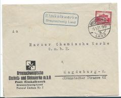 Republik XX040/ / 1924-1932) ,  Elmkalkwerke, Braunschweig Land, Mit 15 Pfg. Brandenburger Tor 13.1.31 - Briefe U. Dokumente