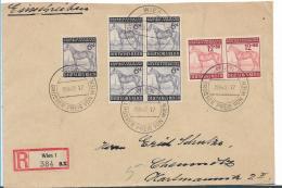 III-Reich XX001 / (1935-1945) Pferderennen, Grosser Preis Von Wien, Sonderpostamt 15.8.43 Nach Chemnitz, Einschreiben - Briefe U. Dokumente