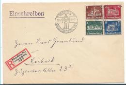 III-Reich XX003 / (1935-1945) OSTROPA Block-Herzstück Auf Sondereinschreiben Königsberg. Marken Ohne Schwefelspuren - Briefe U. Dokumente