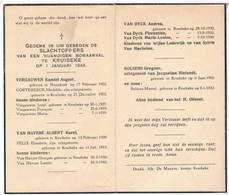 Dp. Oorlogsslachtoffers Van Een Vijandigen Bomaanval Te Kruibeke 1945 - Religion & Esotericism