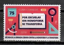 Cuba 2018 / Fight Against Homophobia At School MNH Lucha Contra La Homofobia En La Escuela / Cu9738  C3 - Cuba
