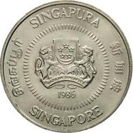 Monnaie, Singapour, 50 Cents, 1986, British Royal Mint, TTB, Copper-nickel - Singapour