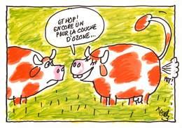 Illustrateurs - IIlustrateur Trez - Enghien Les Bains - Animaux - Vaches - Planète Terre - Trez
