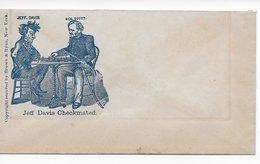 USA 1862 Civil War Cover Chess Davis Scott  Jeff Davis Checkmated - 1861-65 Confederate States