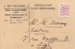 """PK Publicitaire TURNHOUT 1952 - """"DE VIOLIERE"""" - Boek- En Kunsthandel - Turnhout"""